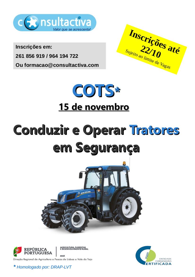 Curso COTS (Conduzir e Operar com Trator)