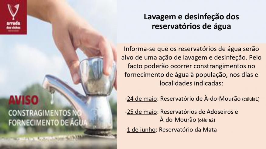 Lavagem e Desinfeção de Reservatórios de Água